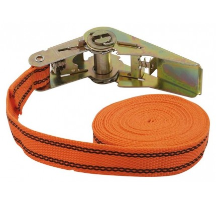 Ratschenspanngurt 1-teilig, 5 m, 25 mm, orange