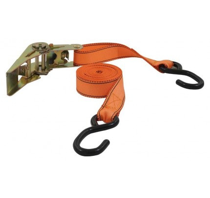 Ratschenspanngurt 2-teilig, 5 m, 25 mm, S-Haken, orange